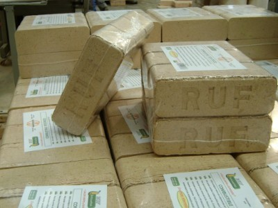 Briquetes RUF, Combustible substitut de la Llenya. 4€Pack/6UT